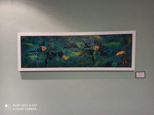tableau tropical par jeannette art